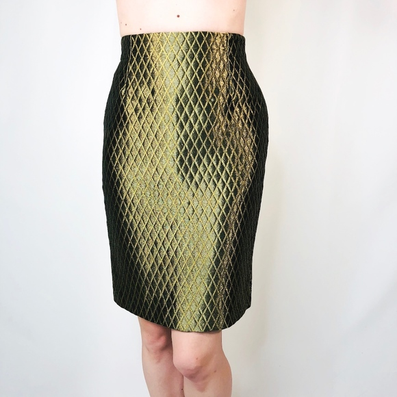 3078424c9a Versace Skirts | Gianni Couture Metallic Quilted Skirt 0493 | Poshmark